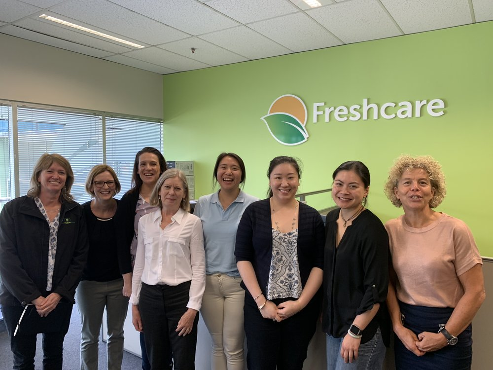 Dr Pieternel Luning and the University of Sydney Sydney team meeting with Freshcare staff