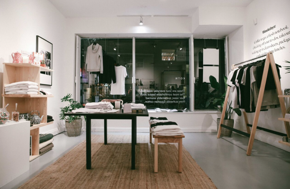 Commercial pop-up space and contemporary retail pilot. Front space with local brand KOTN.