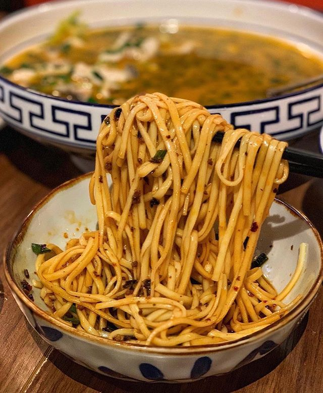 The only type of workout in my books 💪🏻 noodle lifting 😂. 🍜: Dan Dan noodles! Perfect amount of spice & flavor. . 📷: @amycravesthat . . . . #nyceats #newforkcity #instafood #nycfood #eeeeeats #topnycrestaurants #topcitybites #nyceeeeeats #tasteofny #nycfoodchaser #buzzfeast #nytcooking #forkyeah #eaterny #nycfat #foodie #foodporn #foodstagram #zagat #yelpeatsnyc #eatingnyc #nycfoodie #foodiegram #nycdining #f52grams #bestfoodny #michelinguide #timeoutnewyork