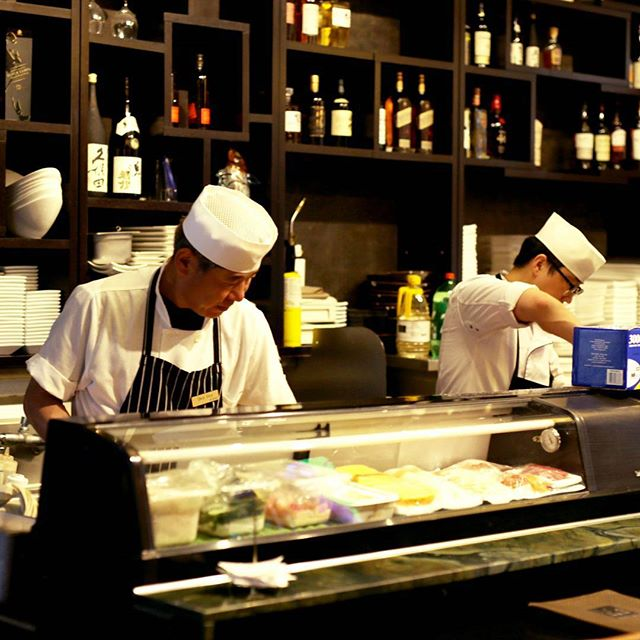 Where the #sushi making magic happens! Come get a front row seat... PC: @chrisjconcepcion ✨ #surahkoreanbbq #surah #🍣