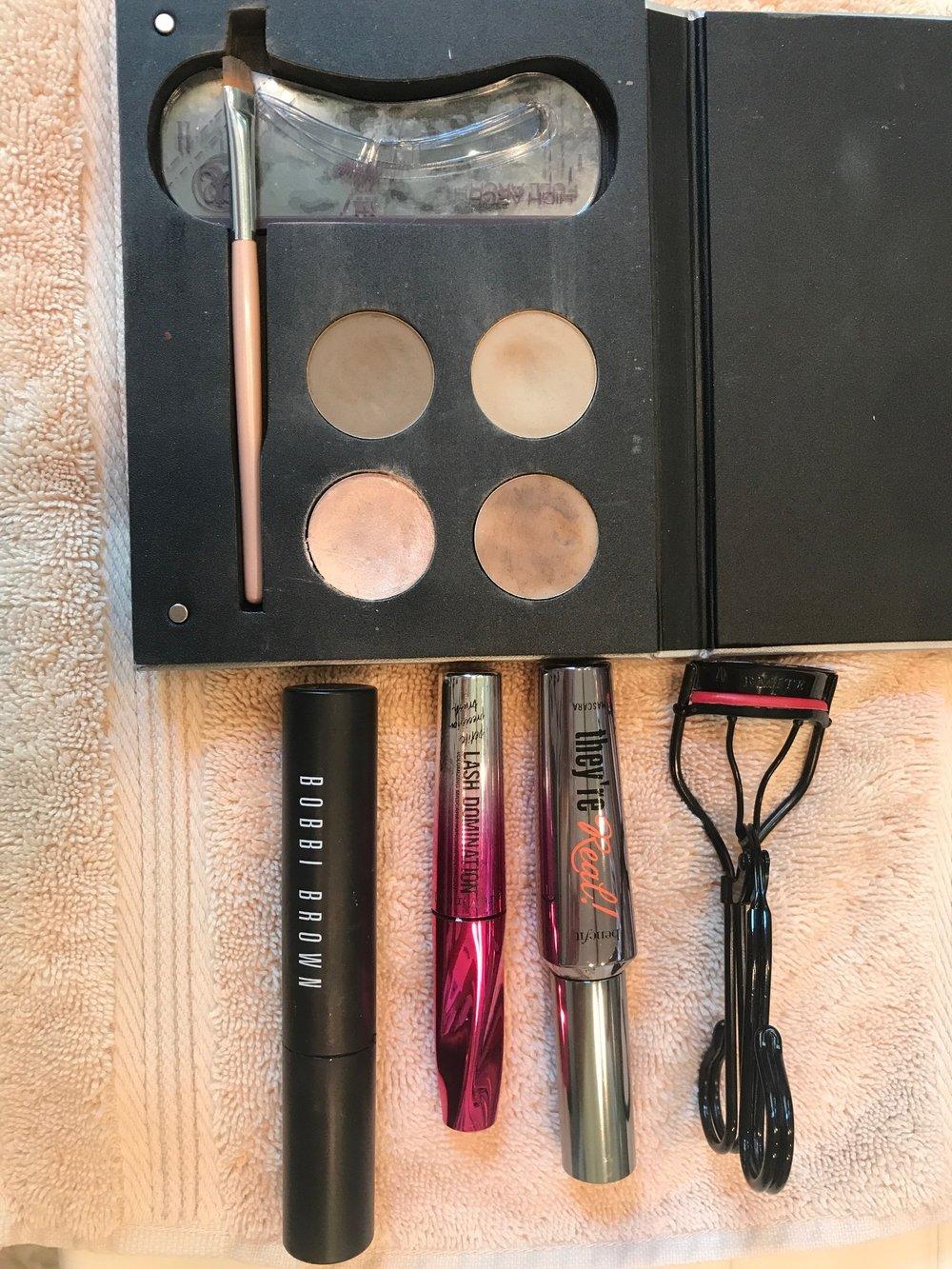 Eyebrow Shadow and Mascara