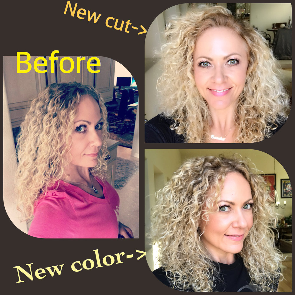 Curly due re-do -