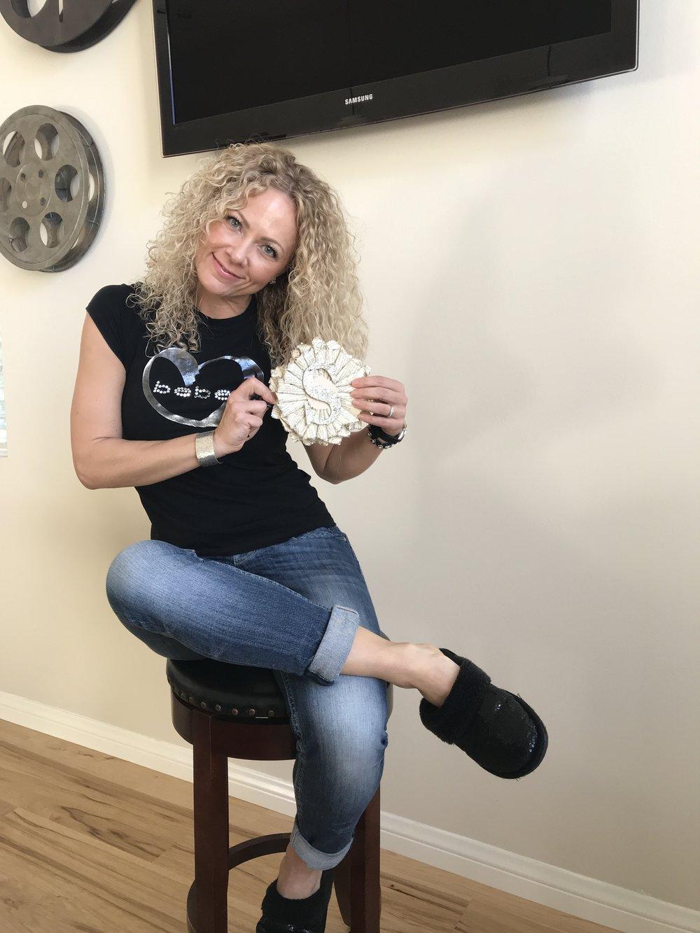 Sequin Slippers- Abound brand Nordstrom rack  Vigoss Jeans- Norrdstrom  Bebe T-shirt - BEBE  Jewelry - Danielle Dunlap designs