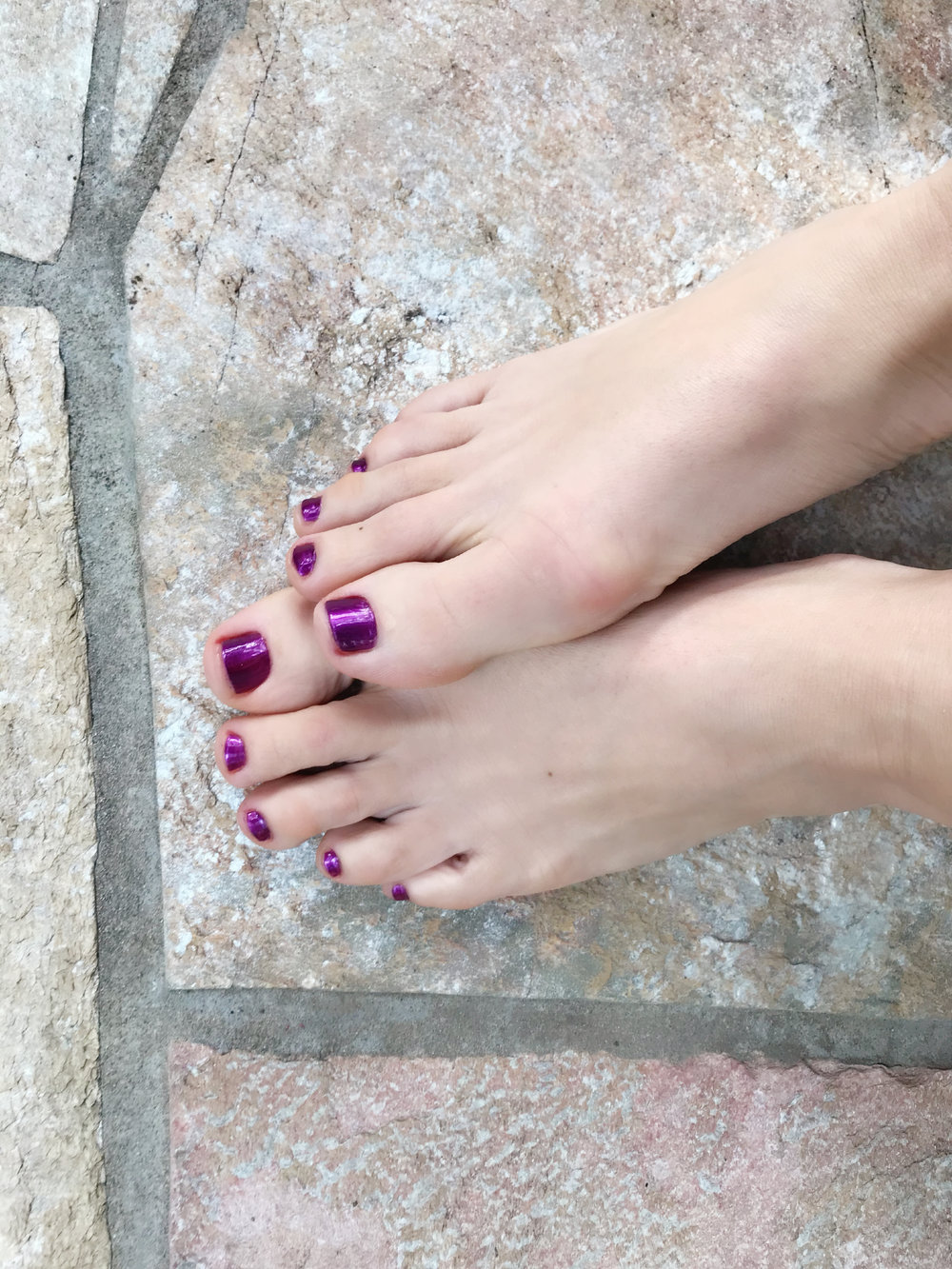 Final Step - Polish for the mood you are in . Purple -
