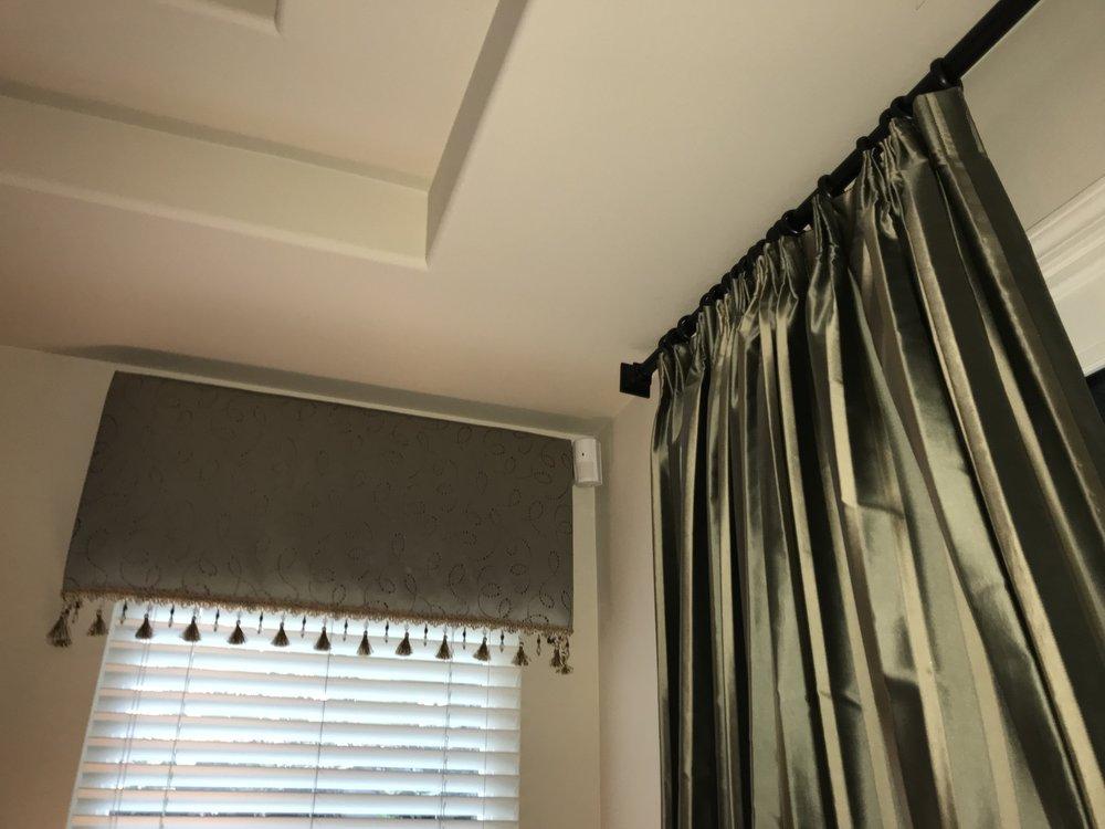 Cornice Box and curtains