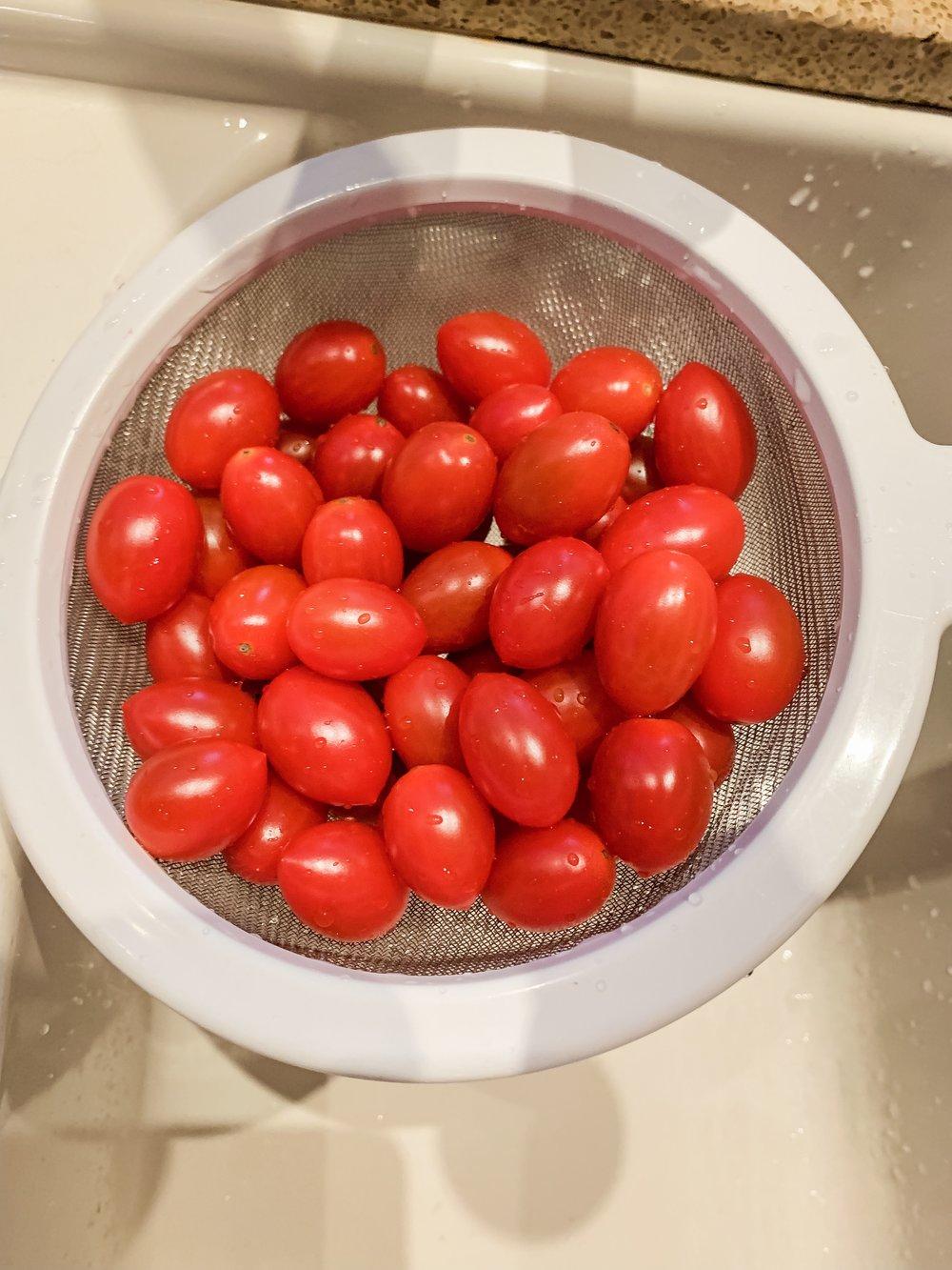Step 3 - Wash tomatoes