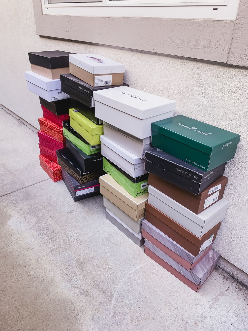 Capacity - 30 pairs of shoes from these boxes found a home