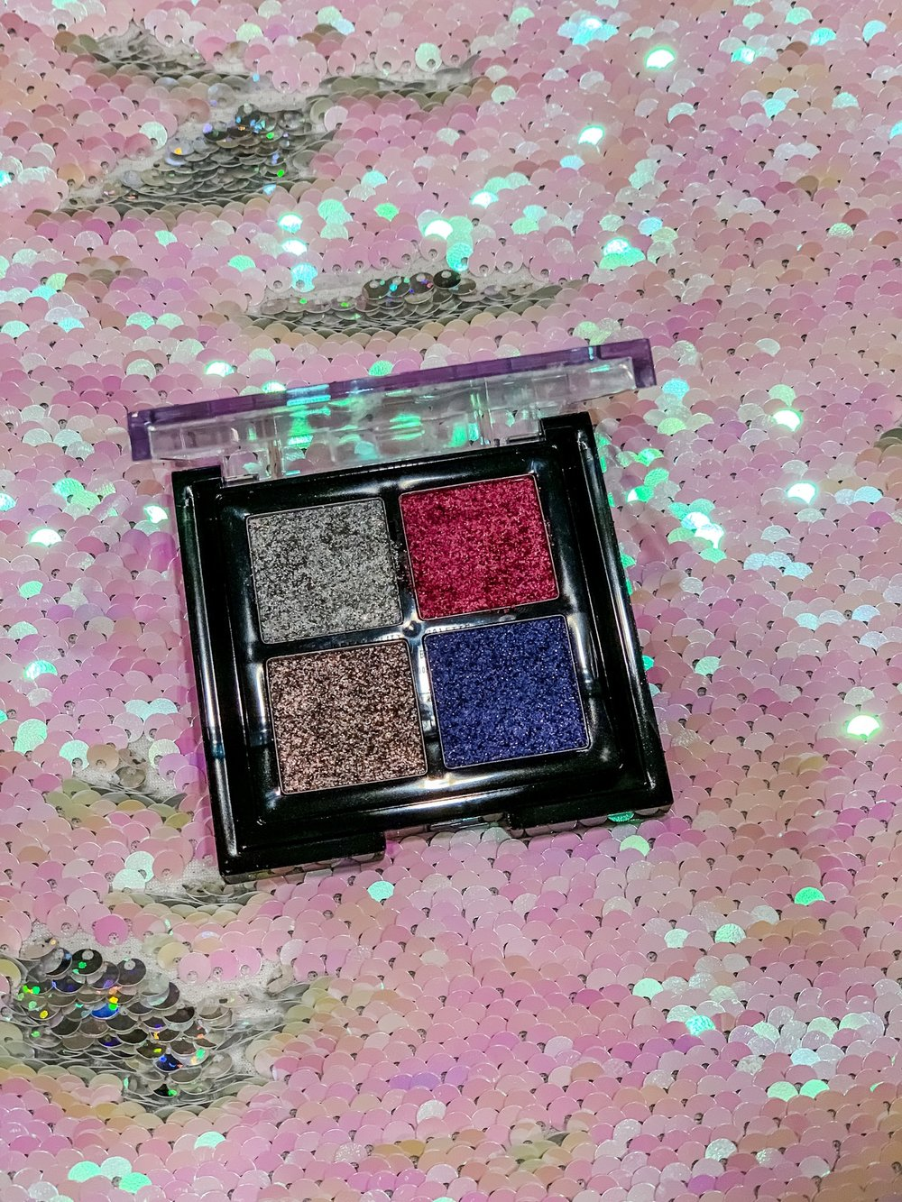 Glitter quad - $12 from NYX for eyes or lips