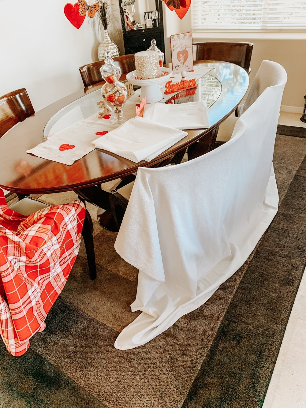 Ironed tablecloth