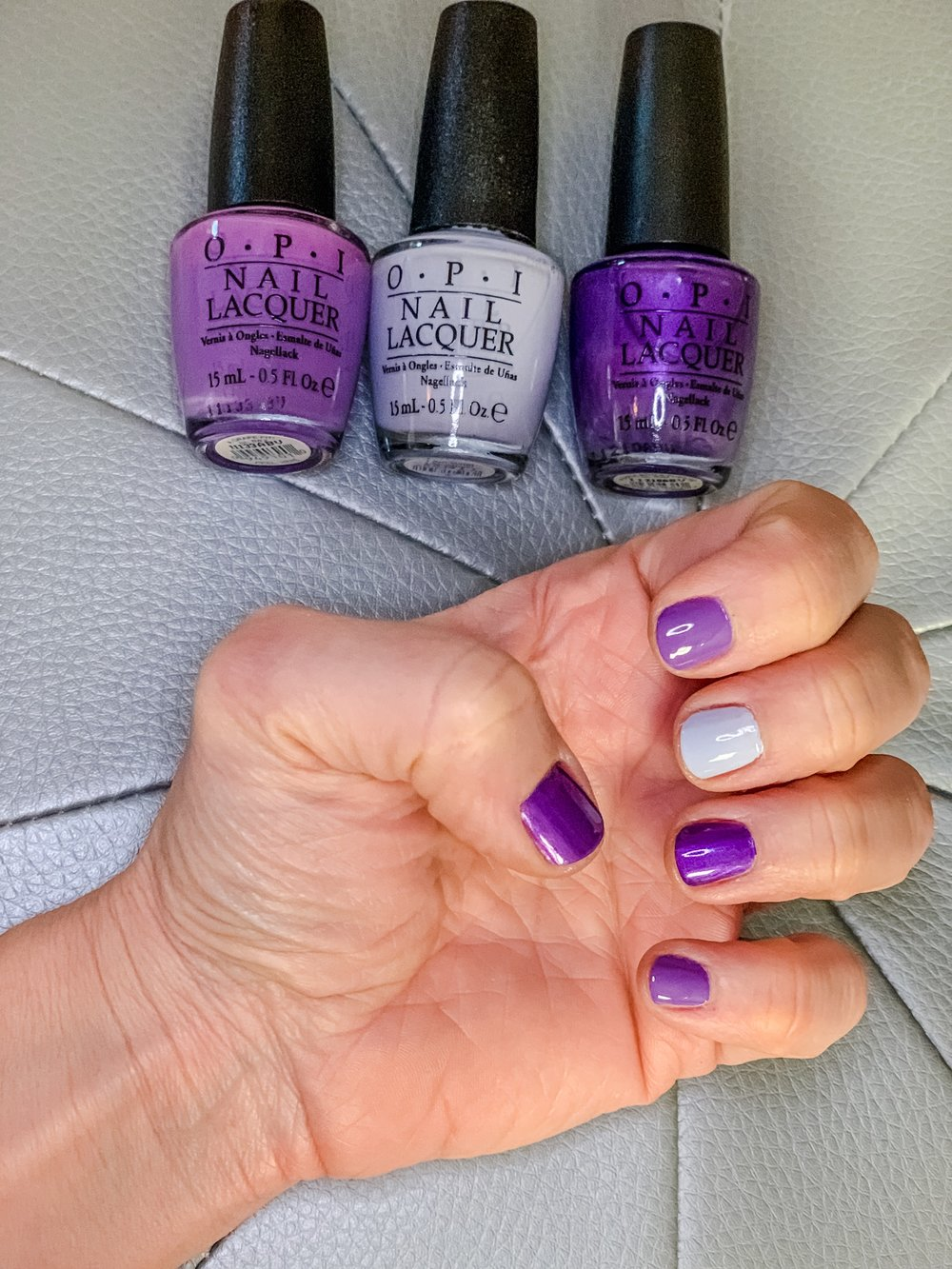 3 color - Purple Passion manicure