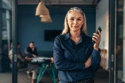 middle age woman in denim shirt.jpg