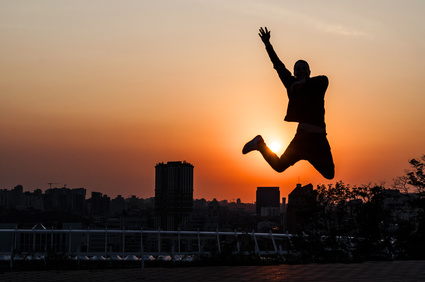 young man dancing during sunset.jpg