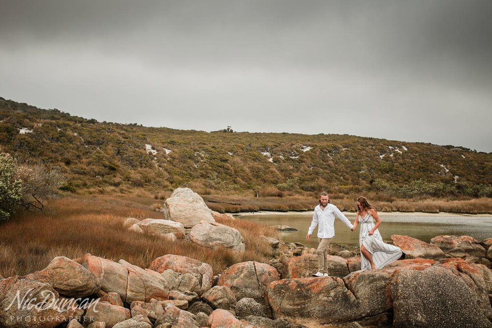 Engagement photos at Two Peoples Bay in Albany