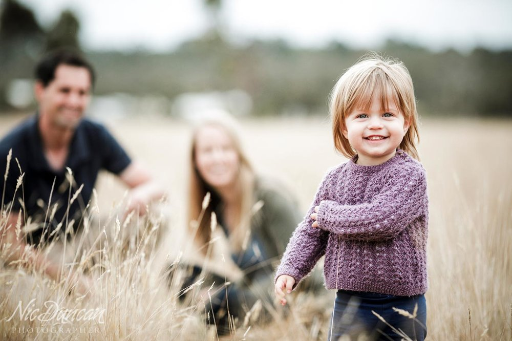Family portraits on their farm in Albany WA