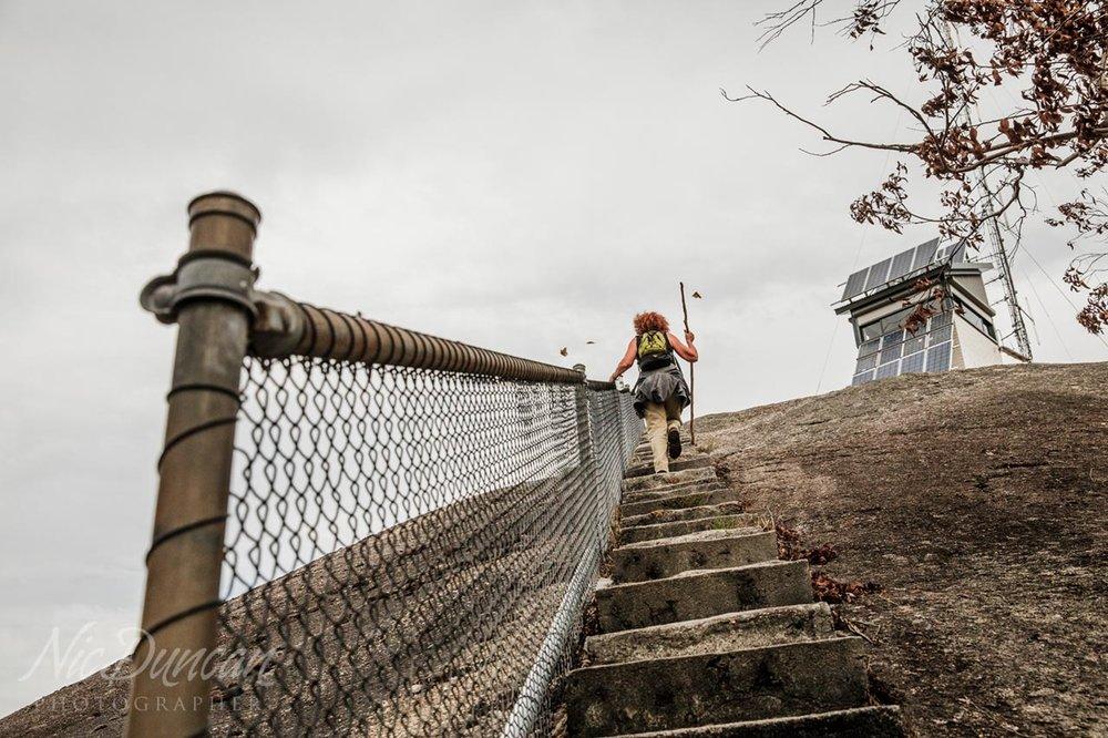 Climbing up Mount Frankland, Walpole, WA