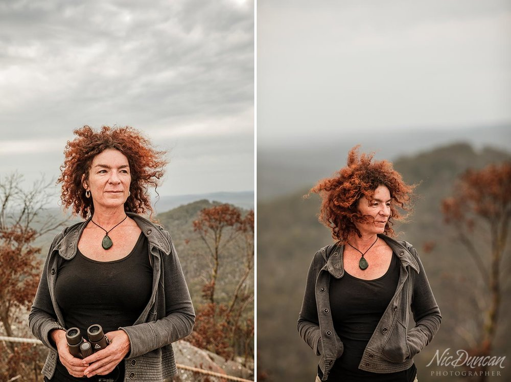 Author Sarah Drummond at the top of Mt Frankland in Walpole, Western Australia