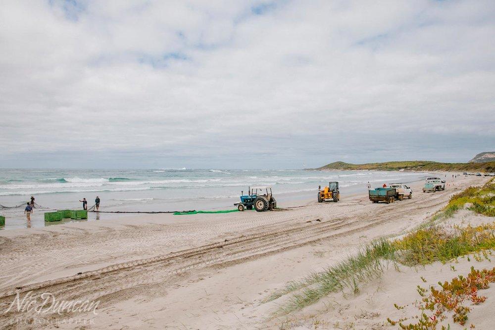 Parrys Beach salmon fishing, Denmark, Western Australia