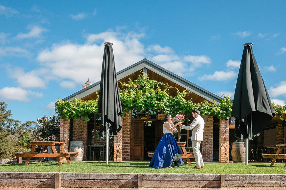 Wedding at Singlefile Wines in Denmark WA