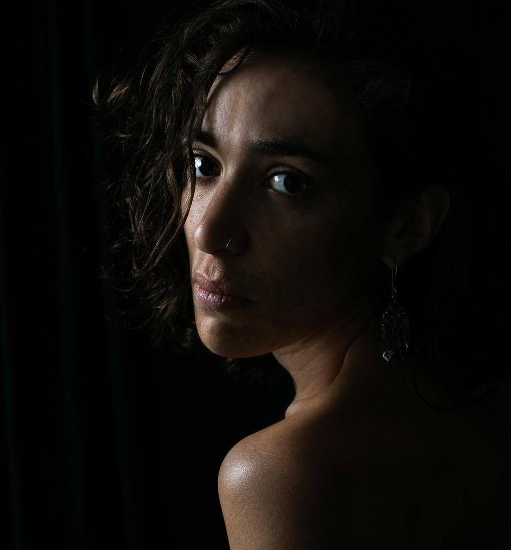Low key portrait, studio lighting, Albany Western Australia