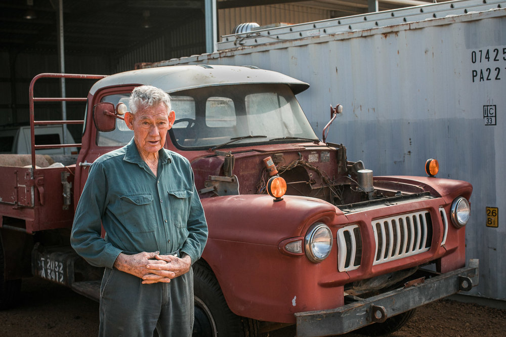 Mukinbudin's mechanic, 82 year old Richard Spark