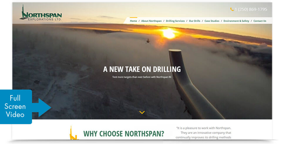 Northspan Explorations Ltd. Web Development