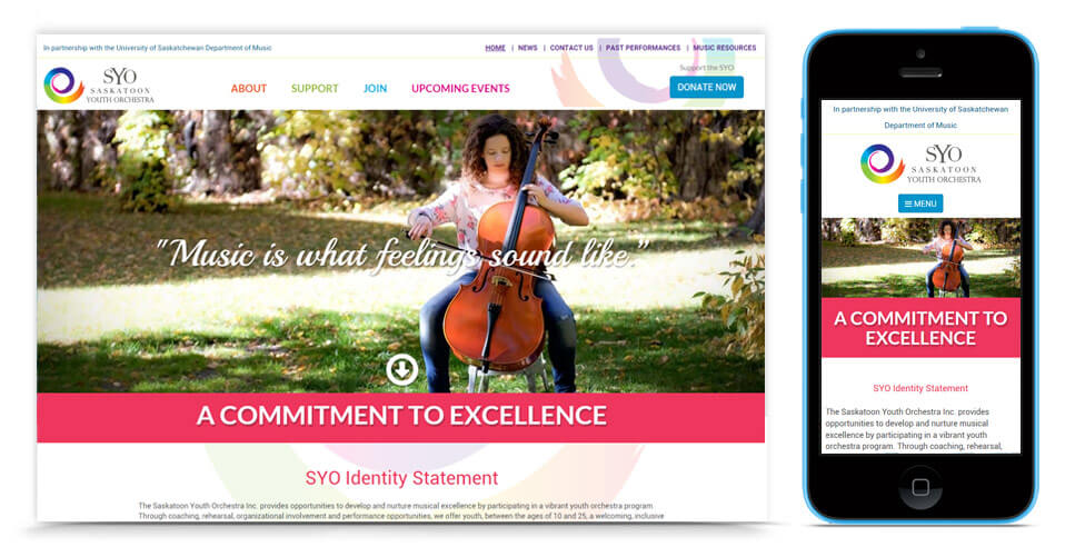 Saskatoon Youth Orchestra Website