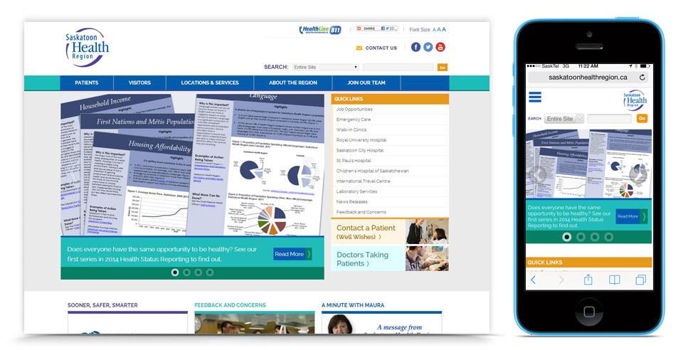 Health Region Website Re-Design