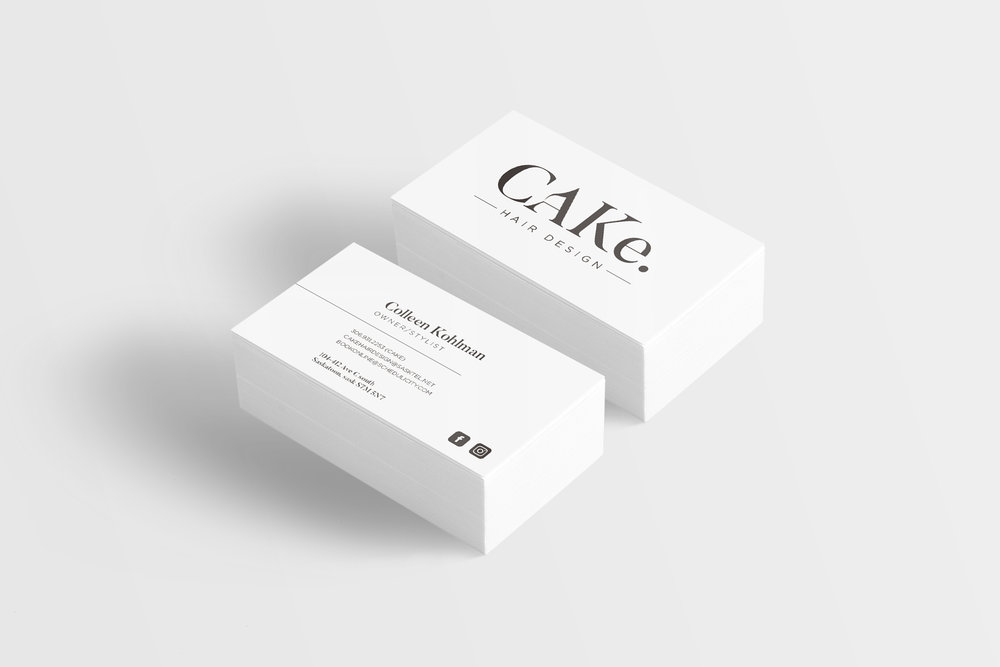 CAKe. hair deisgn business card mock-up