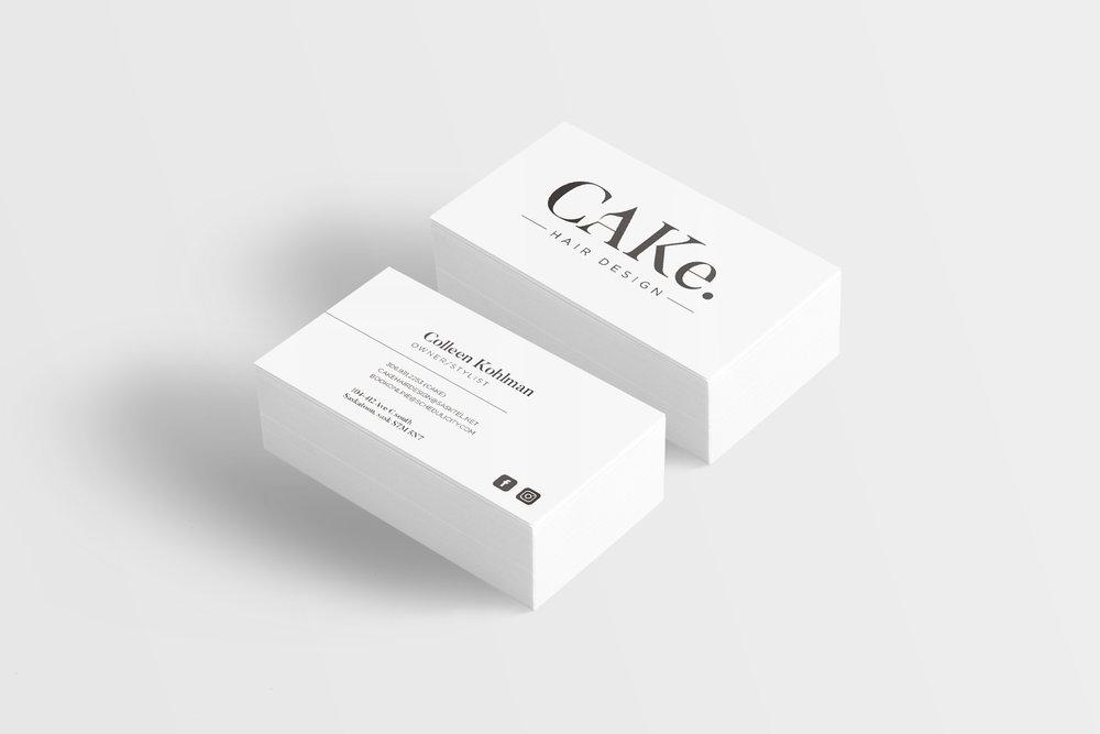 CAKe. hair deisgn business card mock-up