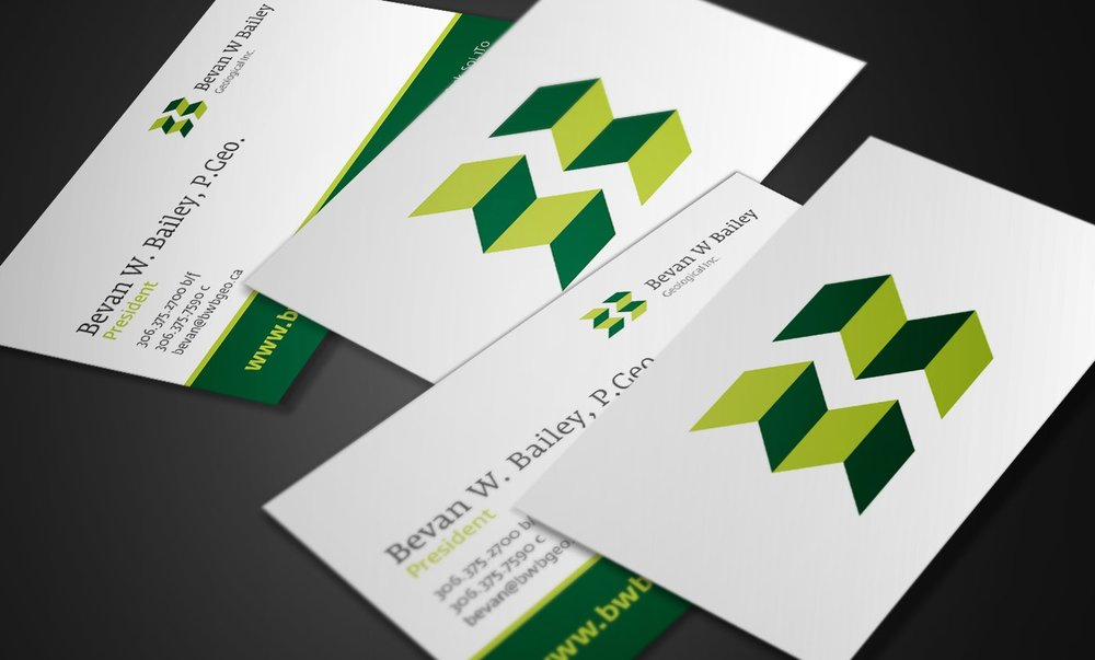 BWB Geological business card designs
