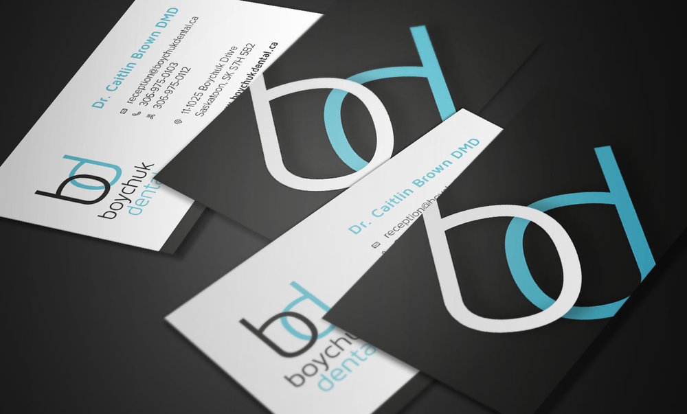 Boychuk Dental Brochure and Business Cards — Lesia Design and Digital