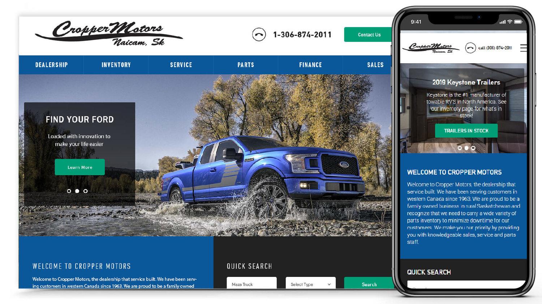 Cropper Motors | Lesia Design and Digital