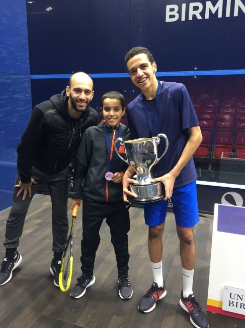 Kareem Badawi with Champion of the BJO B19 division Marwan Tarek (EGY)