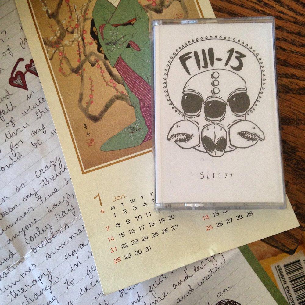 """Fiji-13 """"Sleezy"""" cassette cover illustration"""