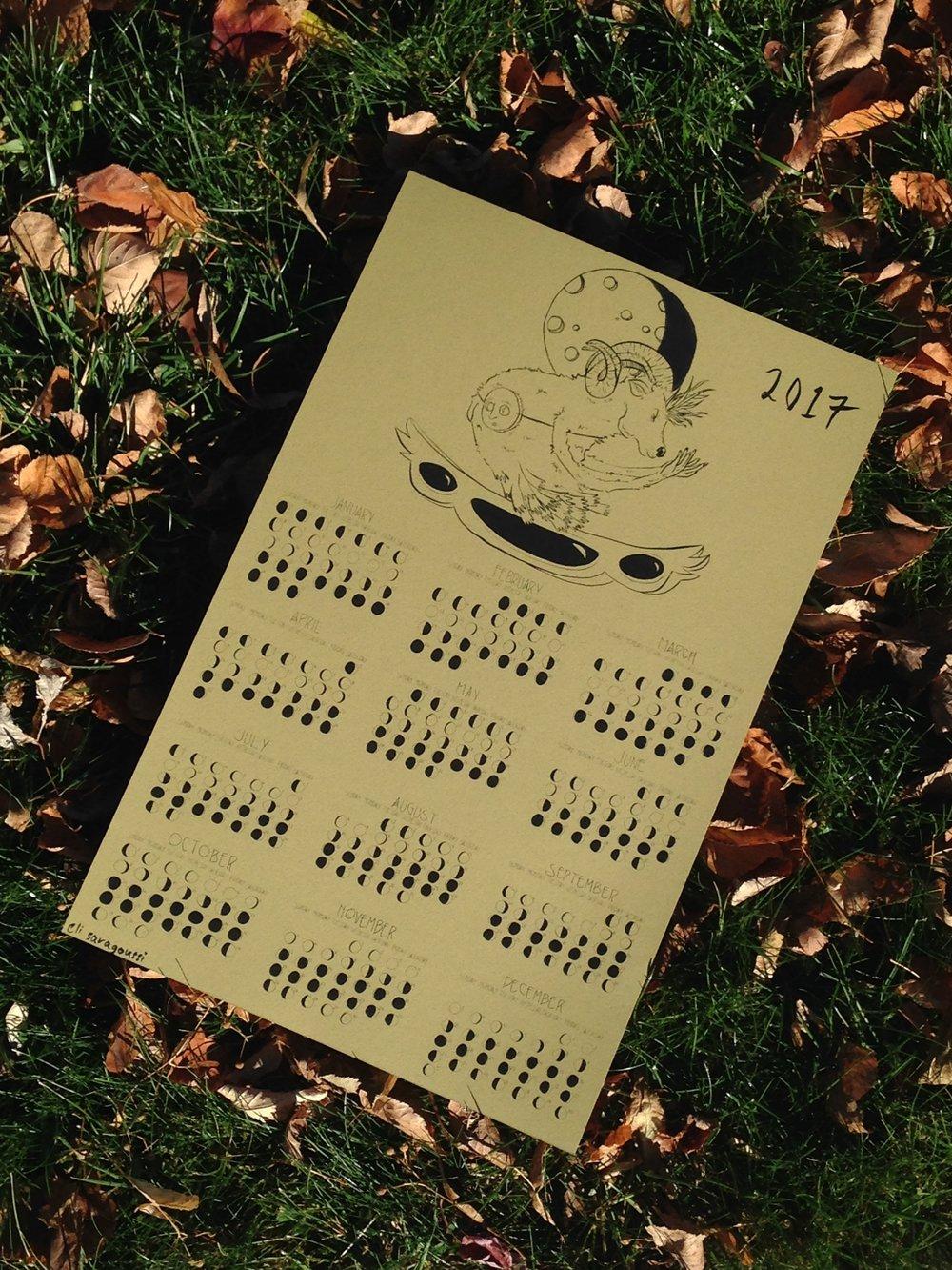 2017 moon calendar
