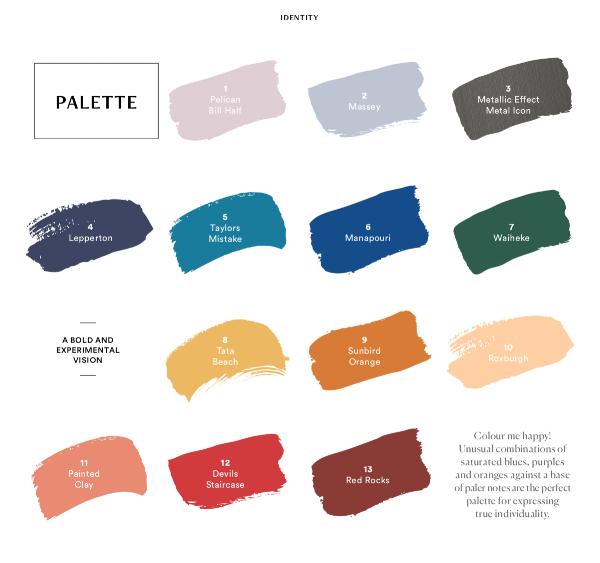 Dulux Identity Palette 2019