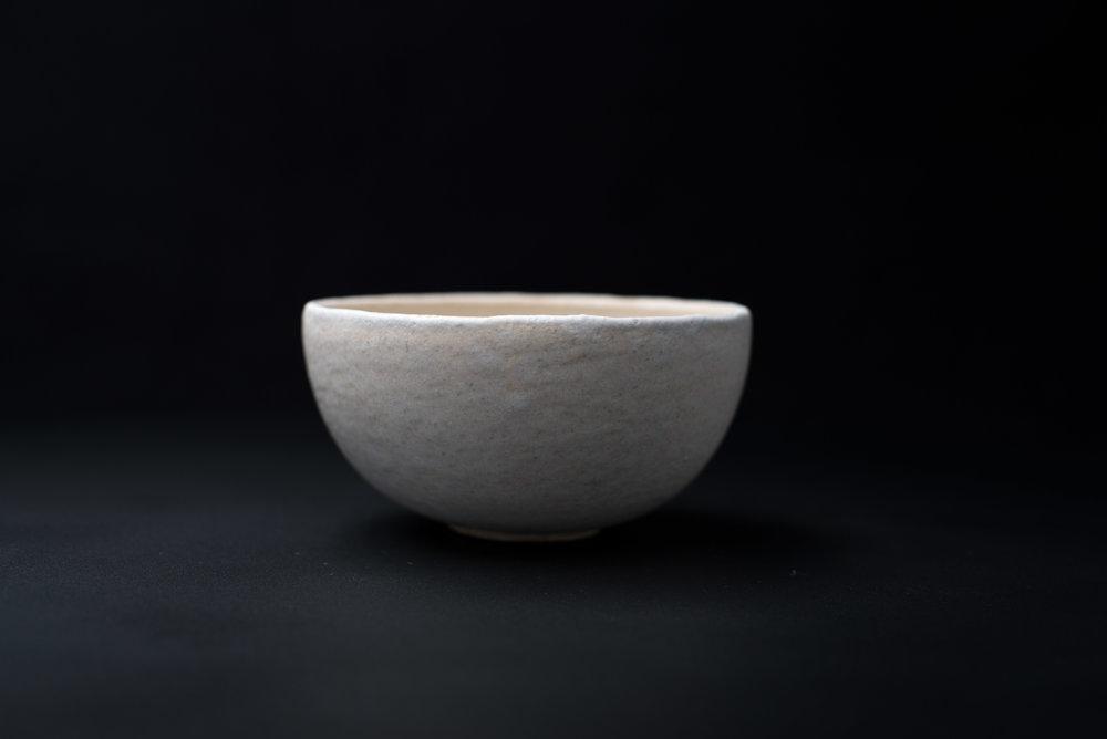 E2 | Small Bowl - Glaze: white on whiteMaterials: ClayØ 13cm x 6.5cm | Ø 5.1
