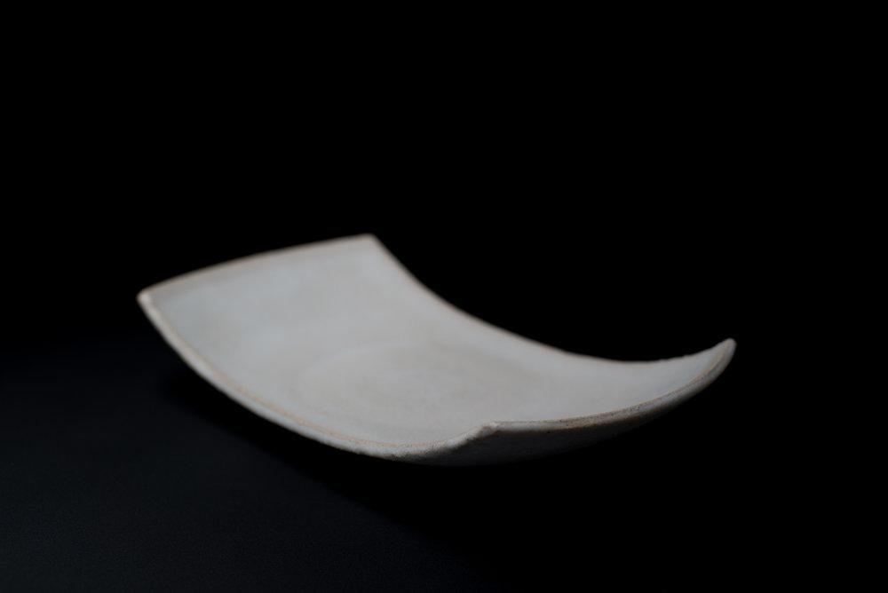 Serving Platter - Glaze: whiteMaterials: Clay28cm x 15cm | Ø 11