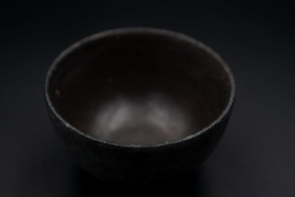 E2 | Small Bowl - Glaze: Black on BlackMaterials: ClayØ 13cm x 6.5cm | Ø 5.1