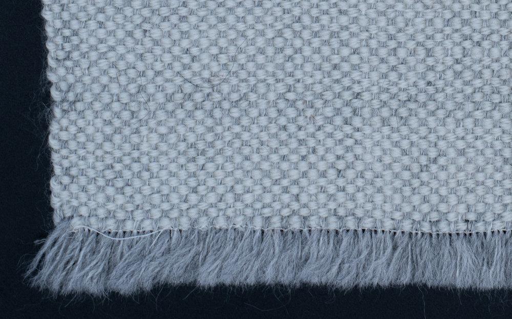 Sample 3 |Tabby Weave - Color: Mist Grey Alpaca | White WoolFiber: Baby Alpaca | WoolW141cm x L216cm | 55.5