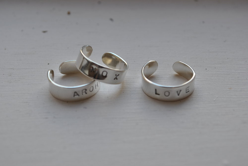 Sterling silver cuff word rings. Choose your own word    $65