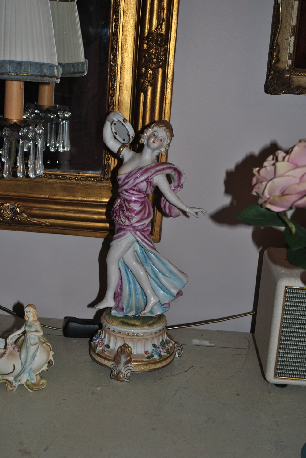 Antique fine china dancing woman    $350