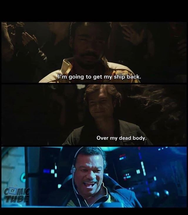 Too soon? 😬😬😬 #Lando #hansolo #starwars #episodeix