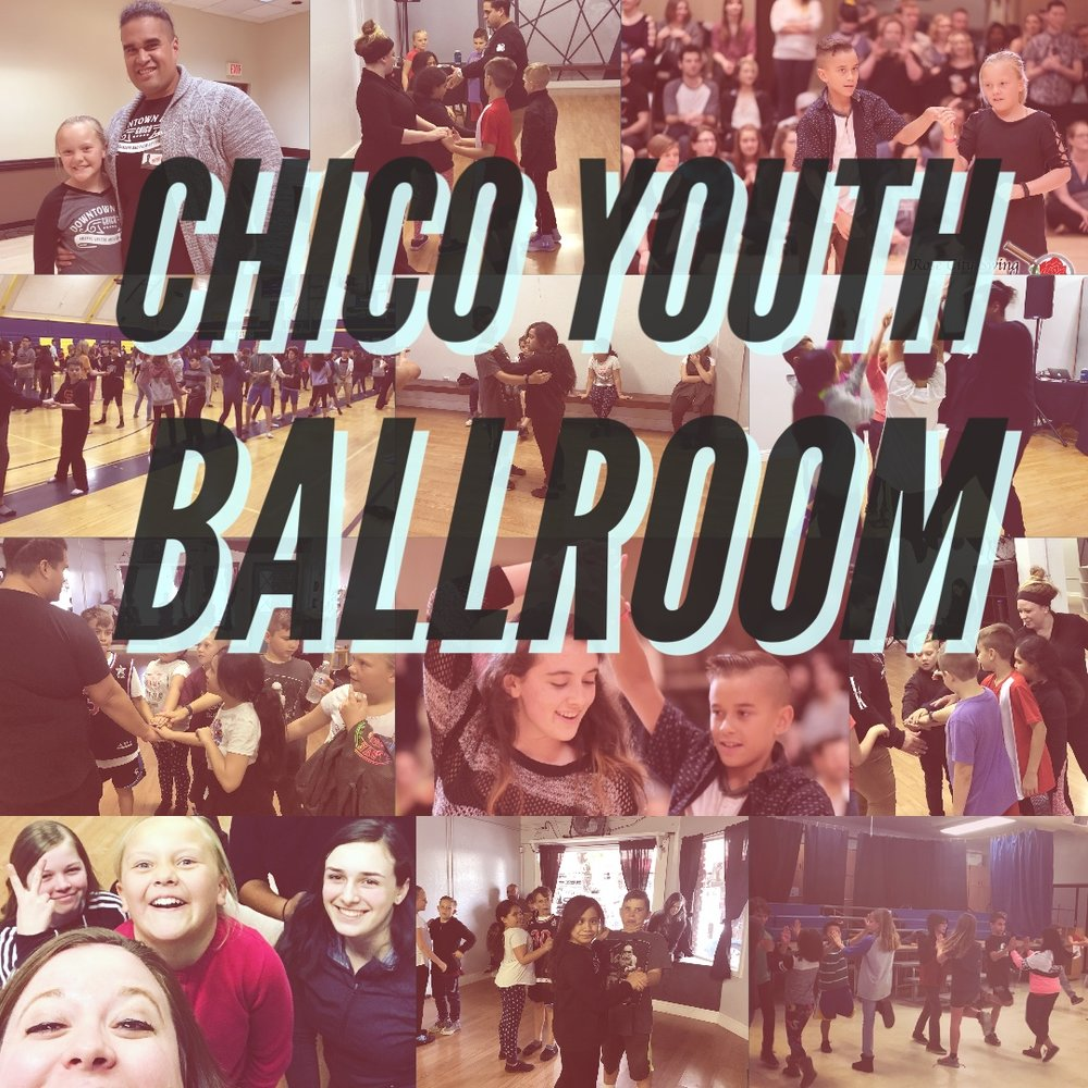 Chico Youth Ballroom - EVERY MONDAYYouth Dance Classes: The dance they learn rotates each month. Drop in rate is $10 a class or pay for a whole month upfront and get a discount of $8 per class.3:30pm-4:15pm; 3rd-5th Grade4:15pm-5:00pm; Junior High & High SchoolWe want kids to experience the joy of partner dancing. Downtown Dance is committed to provide a fun, safe, family friendly atmosphere where the youth of today can lean social skills and build confidence!