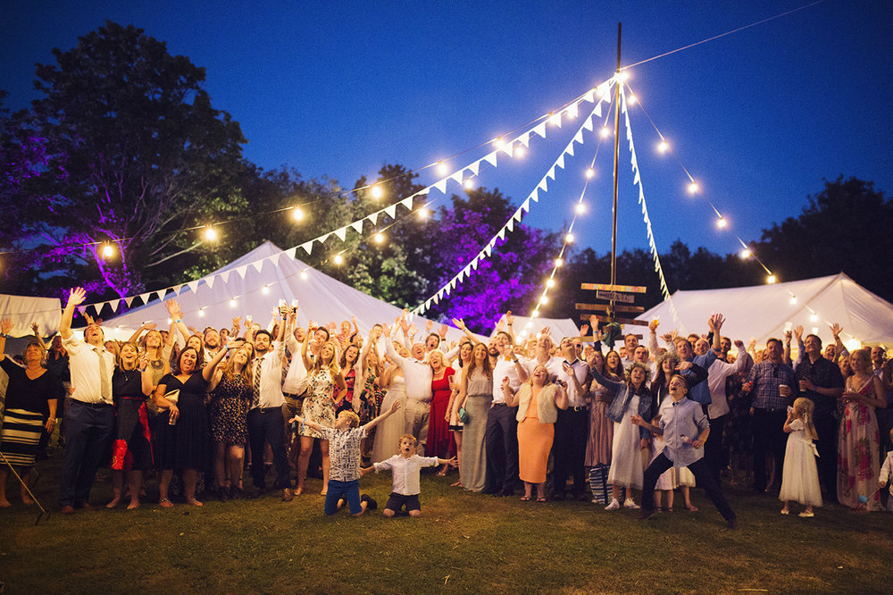 Wedfest 2016 - A young couple asked us to help them light and dress a festival themed wedding!