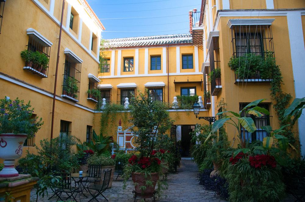 Main courtyard at Las Casas de la Juderia