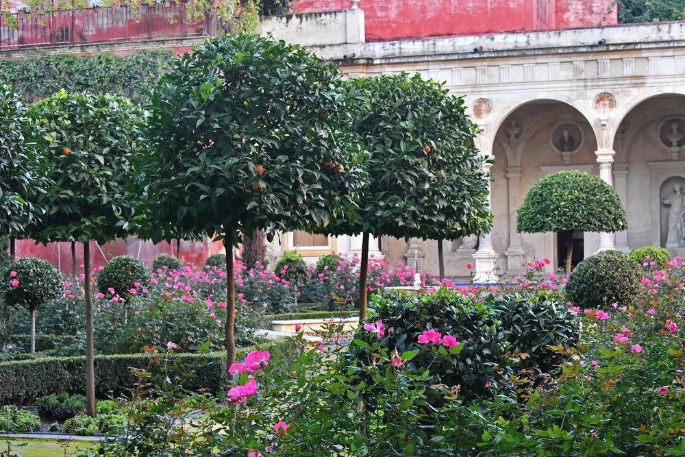 Jardin Grande at La Casa de Pilatos