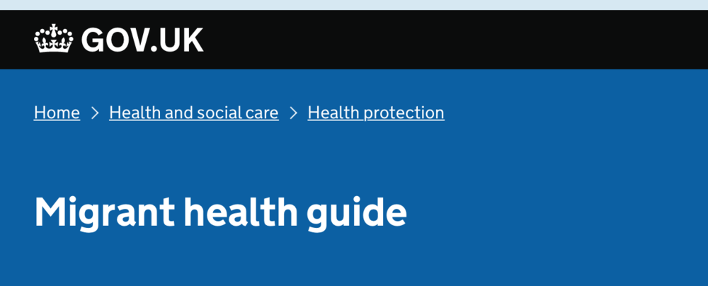 Public Health England's migrant health guide