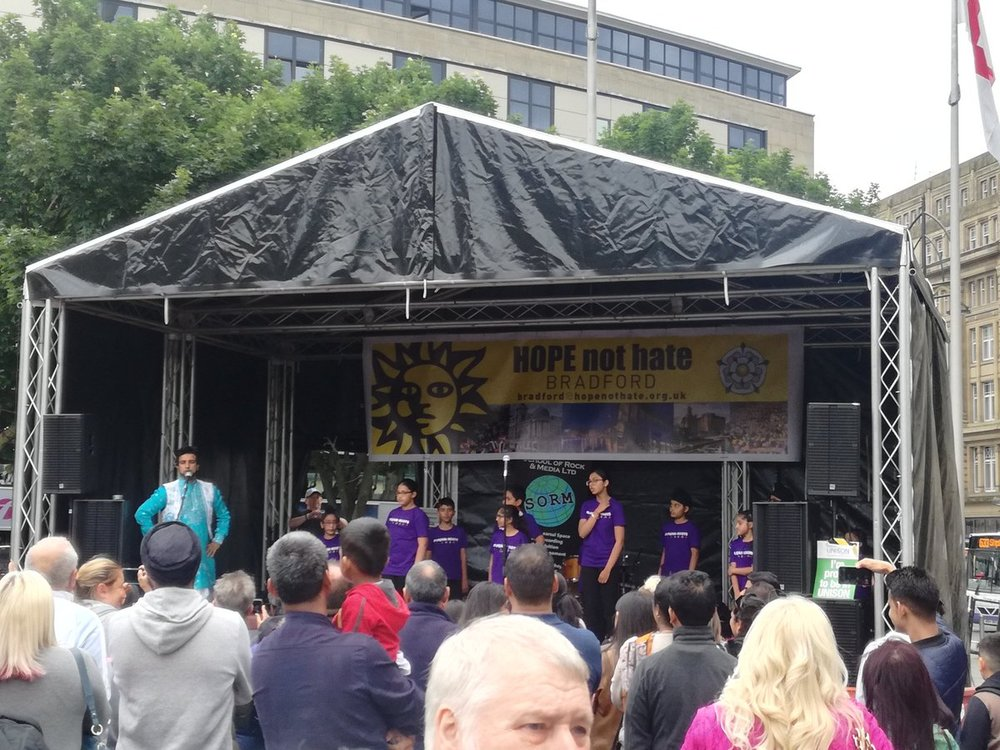 White Ribbon UK accredited festival, HOPE Not Hate in Bradford last week.