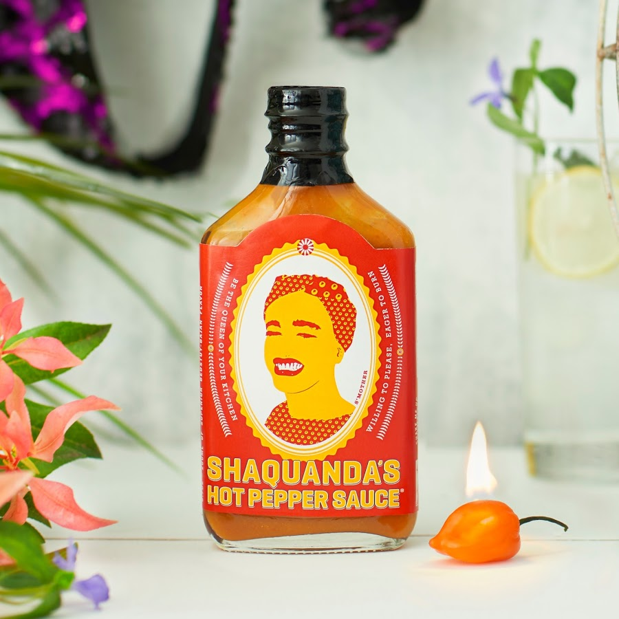 Shaquanda's Hot Sauce   - This hip flask shaped jar is queer visibility and fantastic hot sauce all rolled into one adorable package. They are currently running a Kickstarter to build out their own commercial kitchen, so preorder your hot sauce and support the dream!